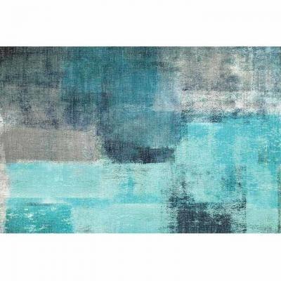 Szőnyeg 80x150 cm, absztrakt, kék - LA BANQUISE